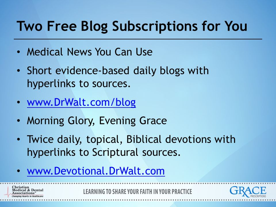 Two Free Blog Subscriptions for You