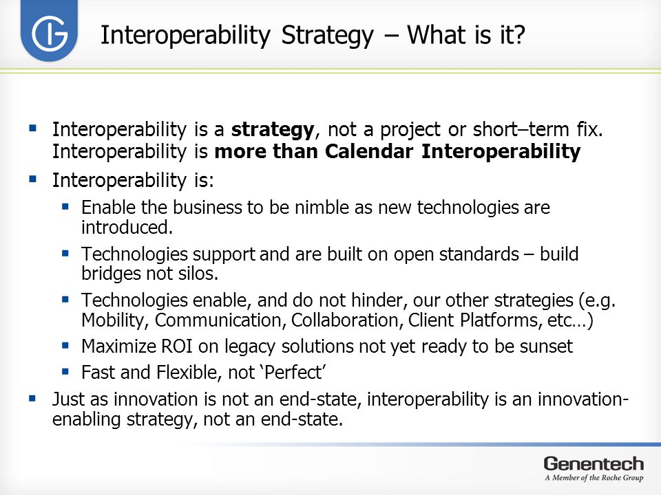 Interoperability Strategy – What is it