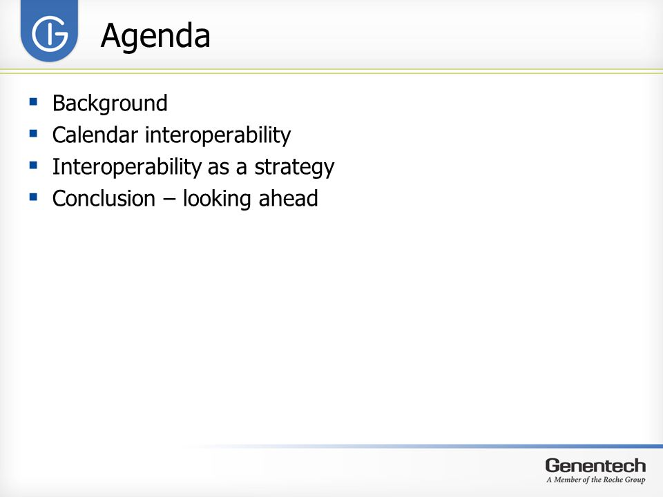Agenda Background Calendar interoperability