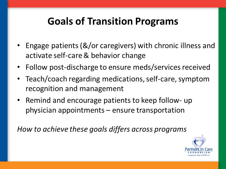 Goals of Transition Programs