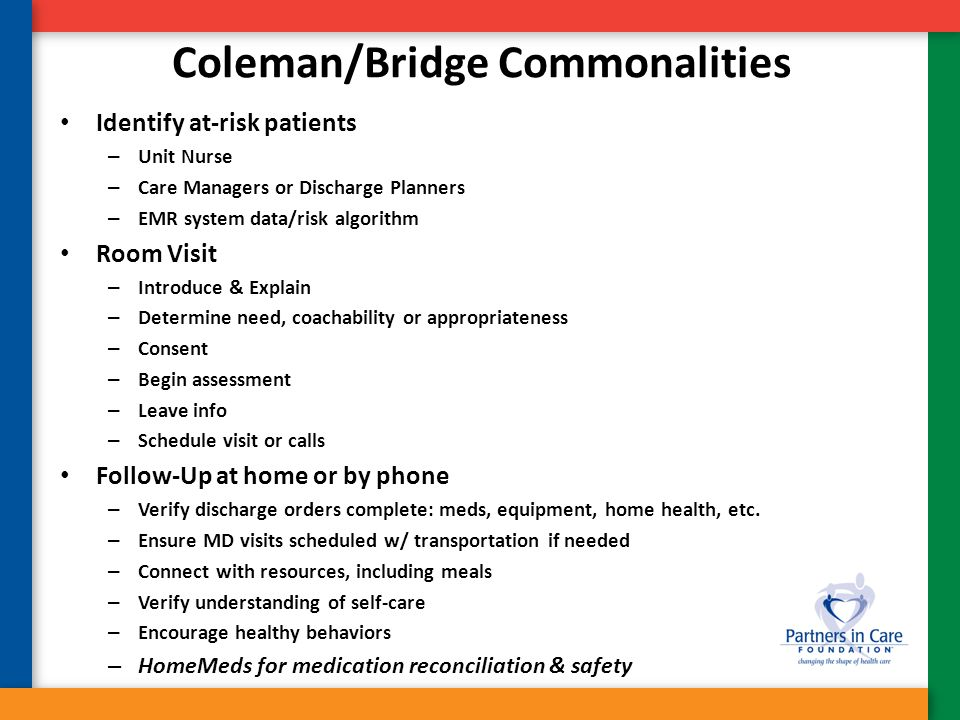 Coleman/Bridge Commonalities