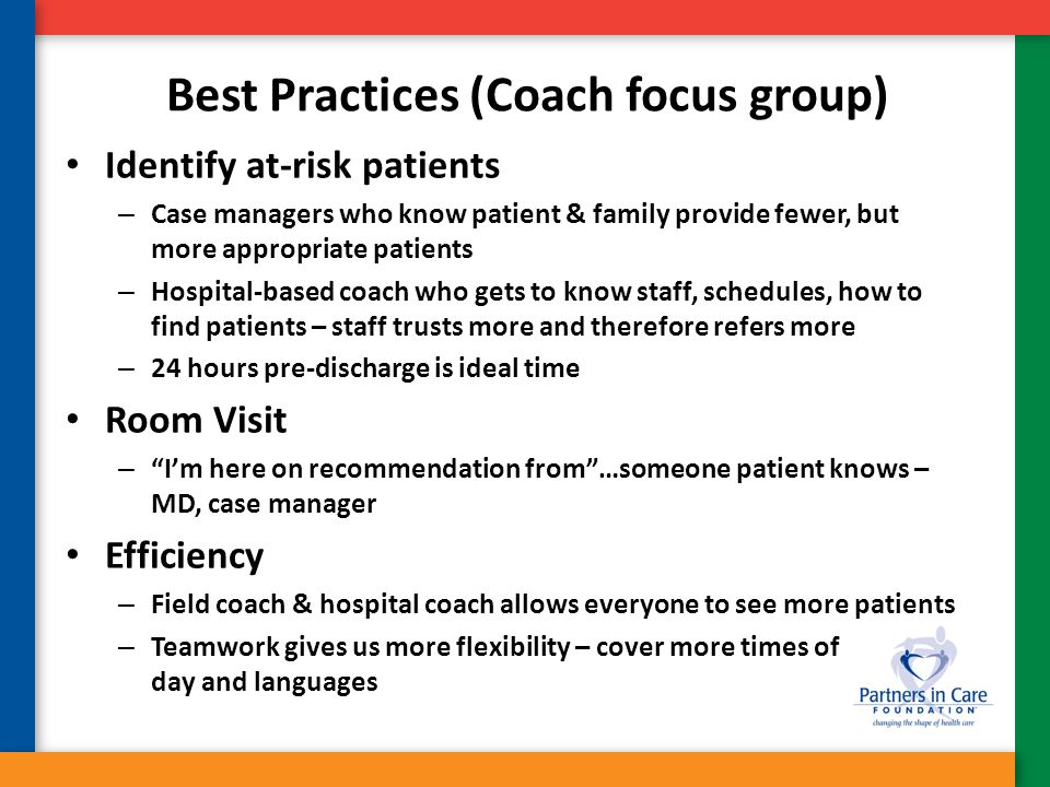 Best Practices (Coach focus group)