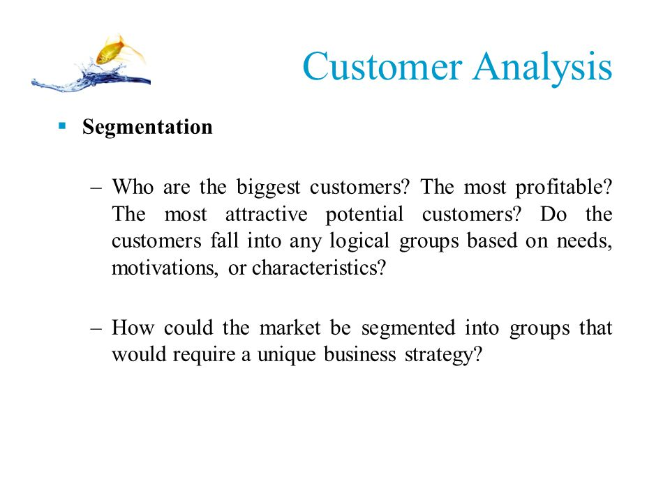 Customer Analysis Segmentation