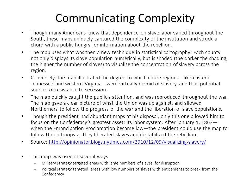 Communicating Complexity