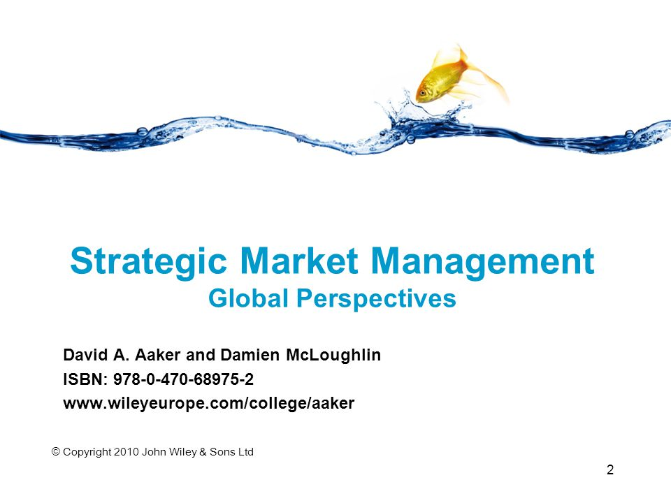 Strategic Market Management Global Perspectives