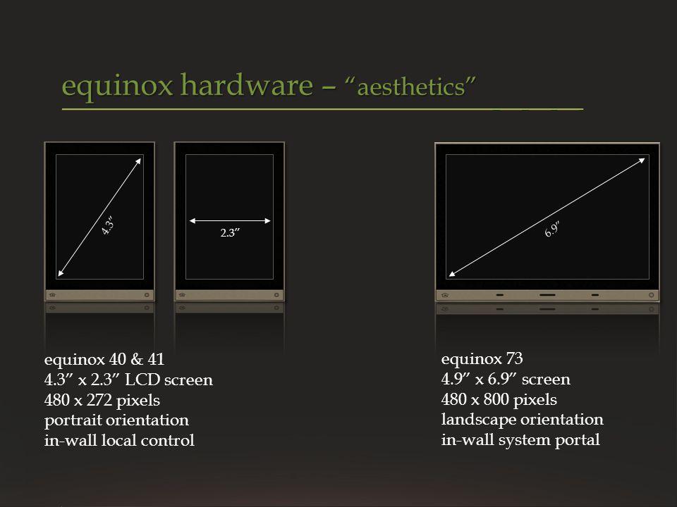 equinox hardware – aesthetics