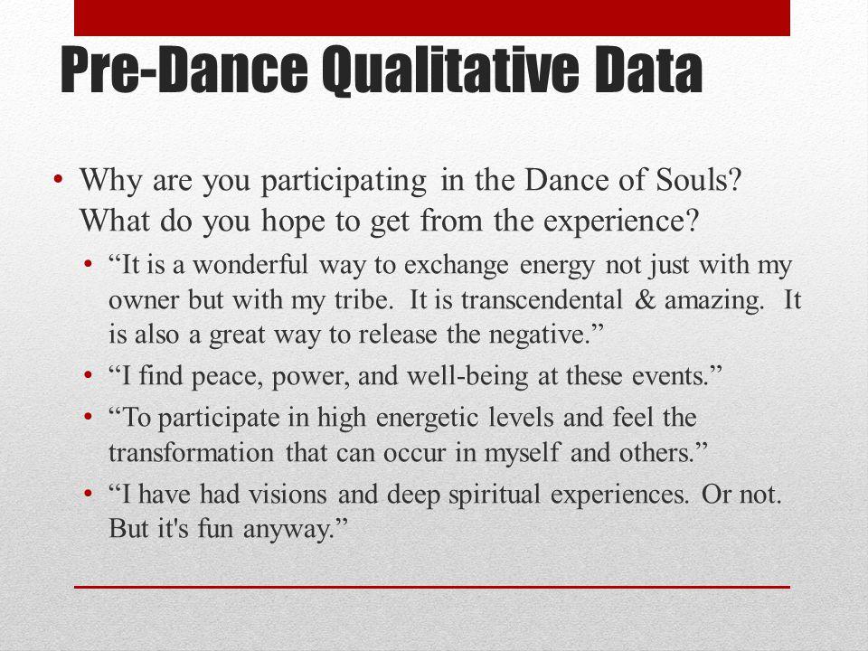 Pre-Dance Qualitative Data