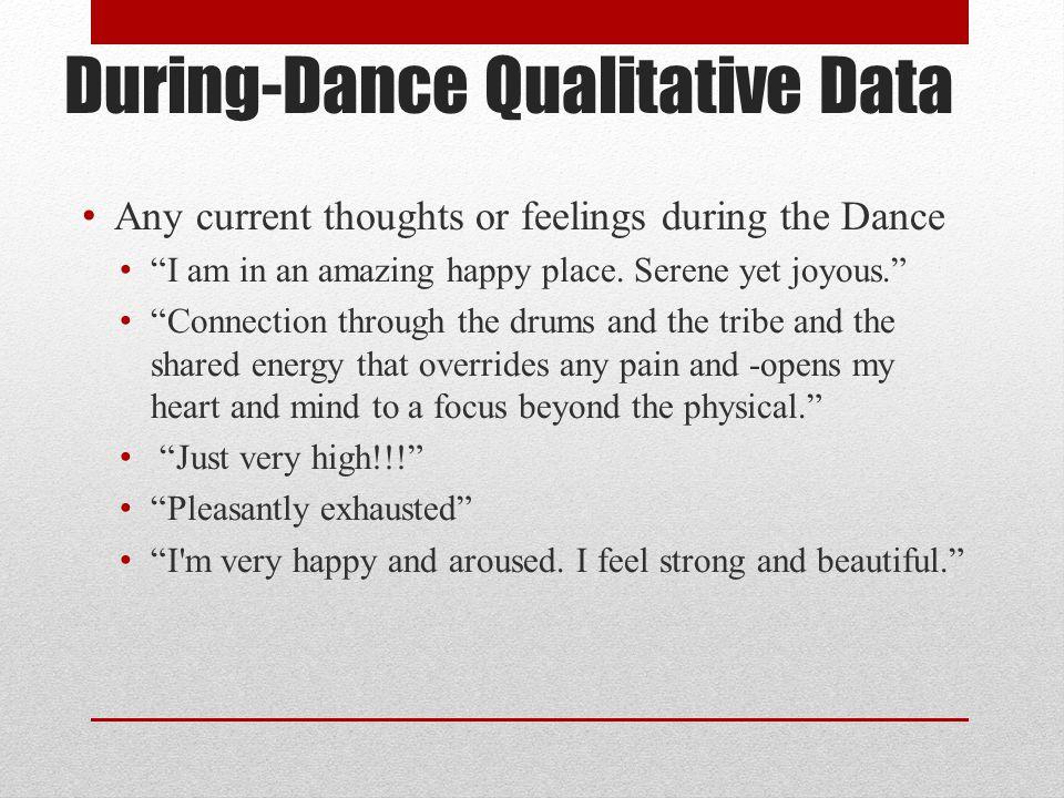 During-Dance Qualitative Data