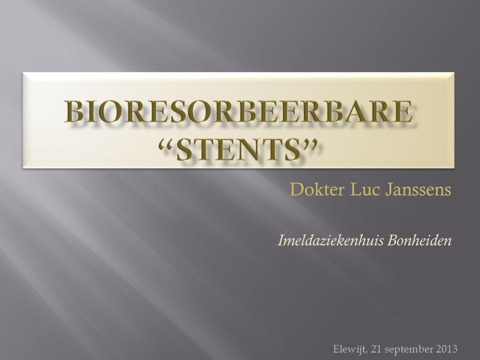 Bioresorbeerbare stents