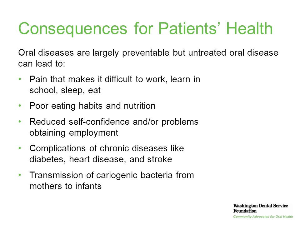 Consequences for Patients' Health