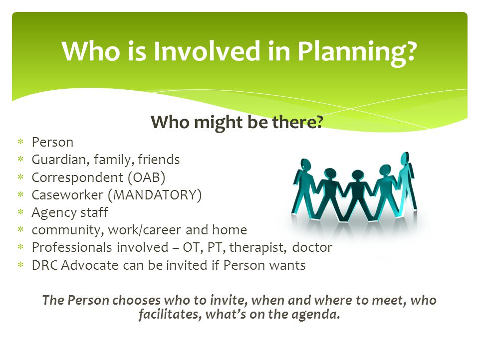 Who is Involved in Planning
