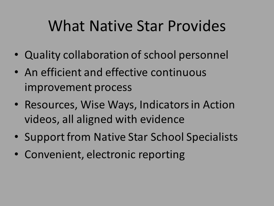 What Native Star Provides