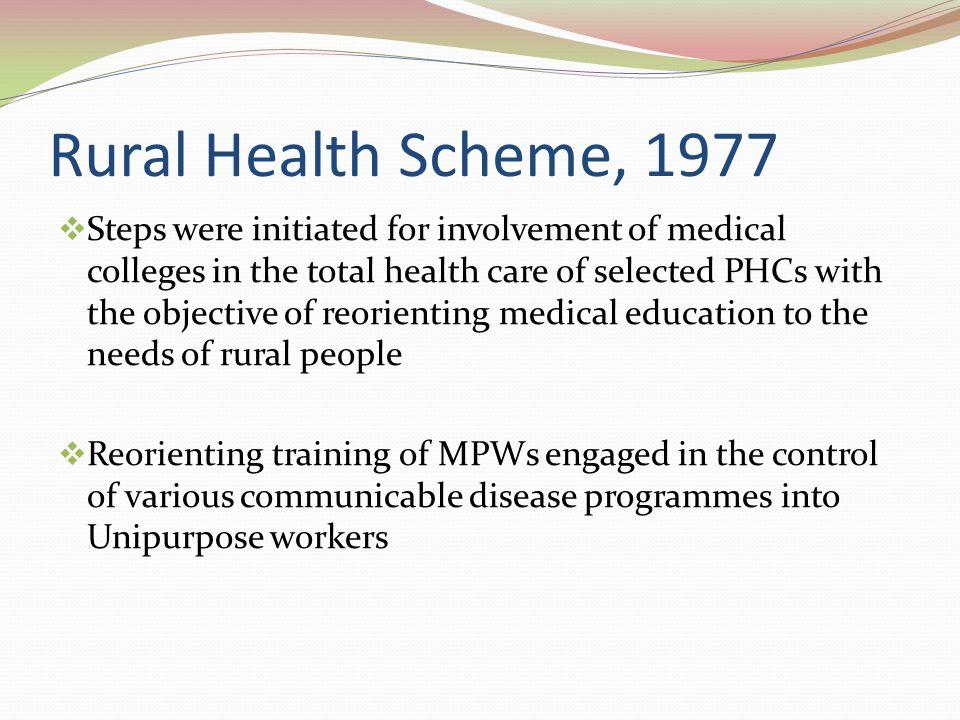 Rural Health Scheme, 1977