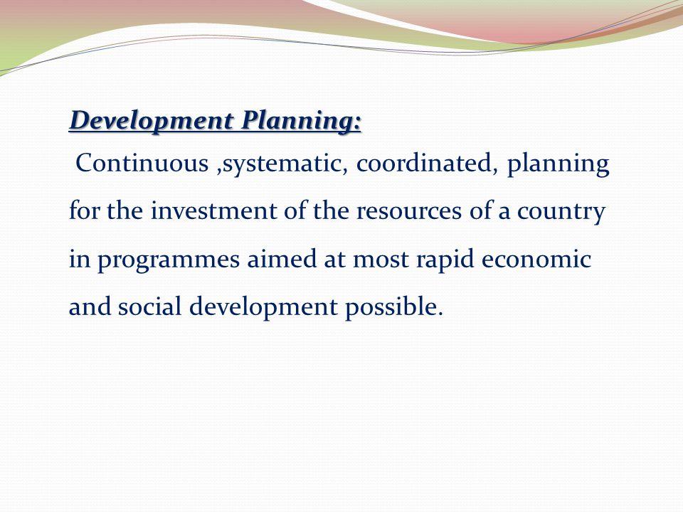 Development Planning: