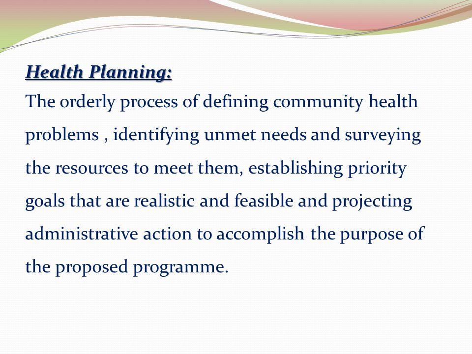 Health Planning: