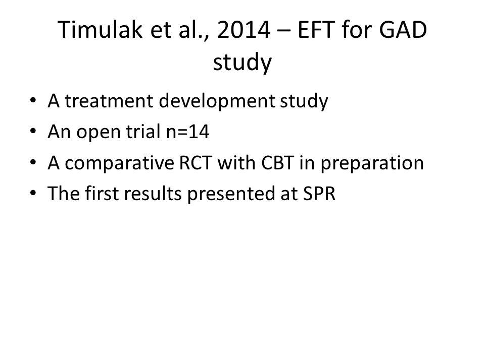 Timulak et al., 2014 – EFT for GAD study