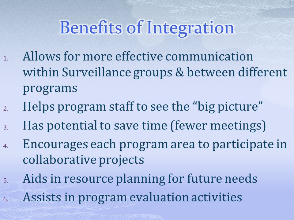 Benefits of Integration
