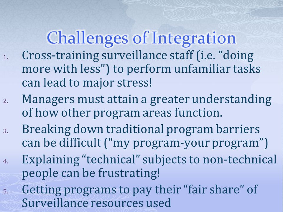Challenges of Integration