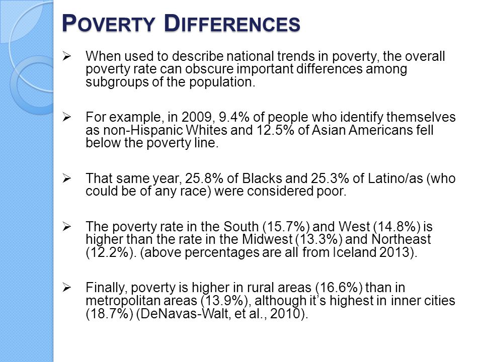 Poverty Differences