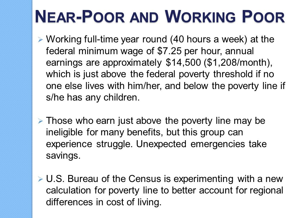 Near-Poor and Working Poor