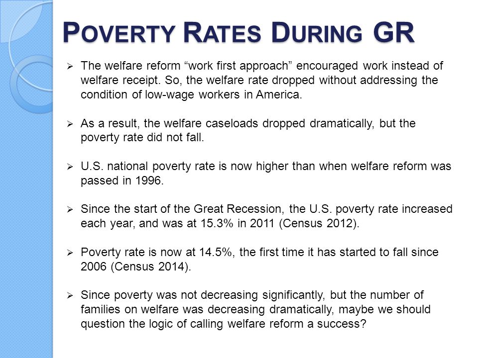 Poverty Rates During GR