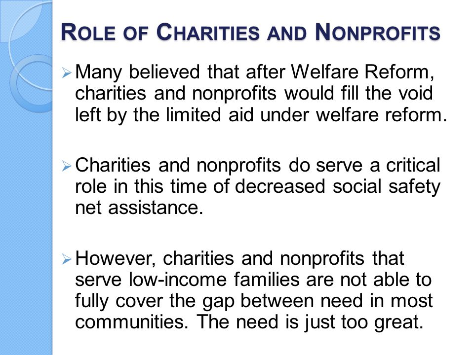 Role of Charities and Nonprofits