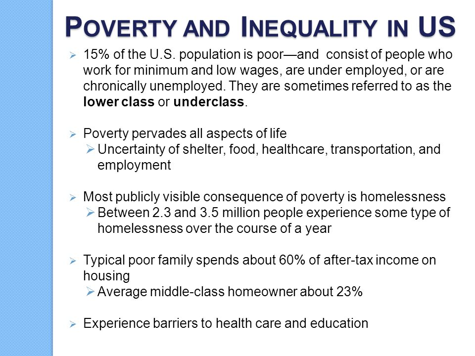 Poverty and Inequality in US