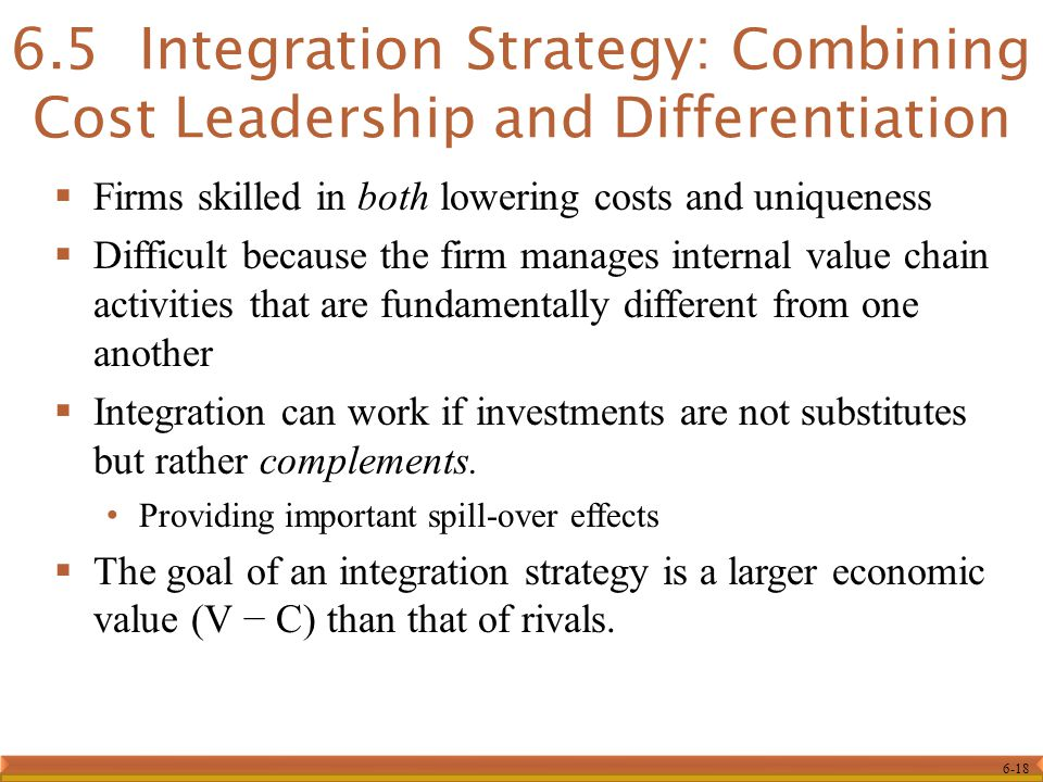 6.5 Integration Strategy: Combining Cost Leadership and Differentiation