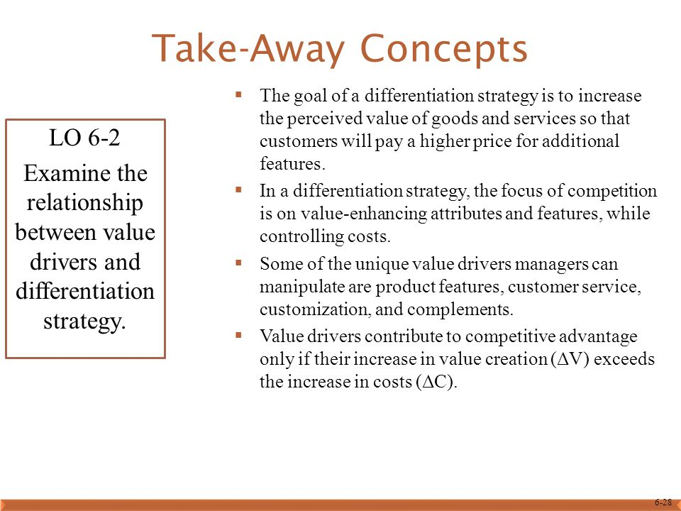 Take-Away Concepts LO 6-2