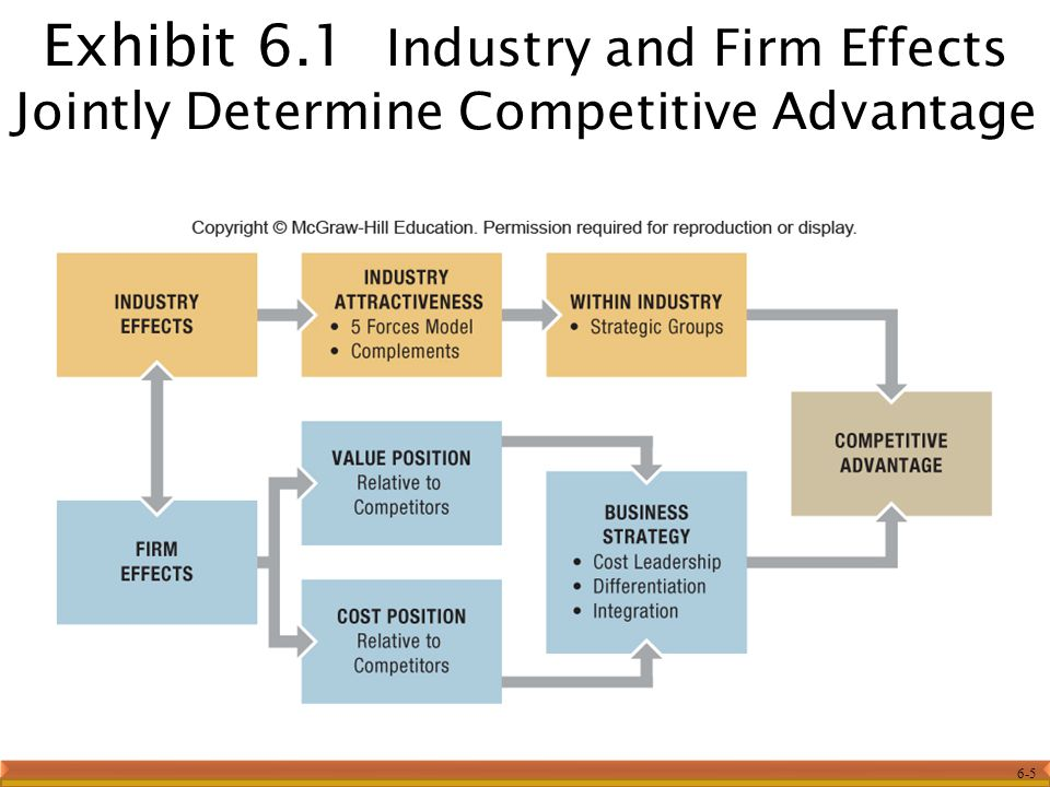 Exhibit 6.1 Industry and Firm Effects Jointly Determine Competitive Advantage