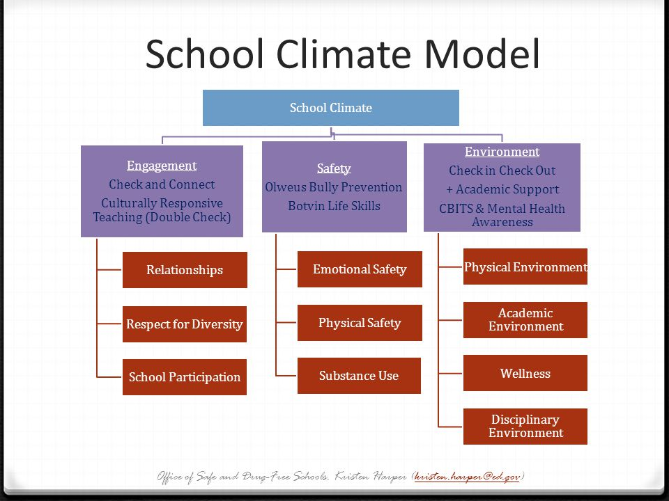 School Climate Model School Climate. Culturally Responsive Teaching (Double Check) Check and Connect.