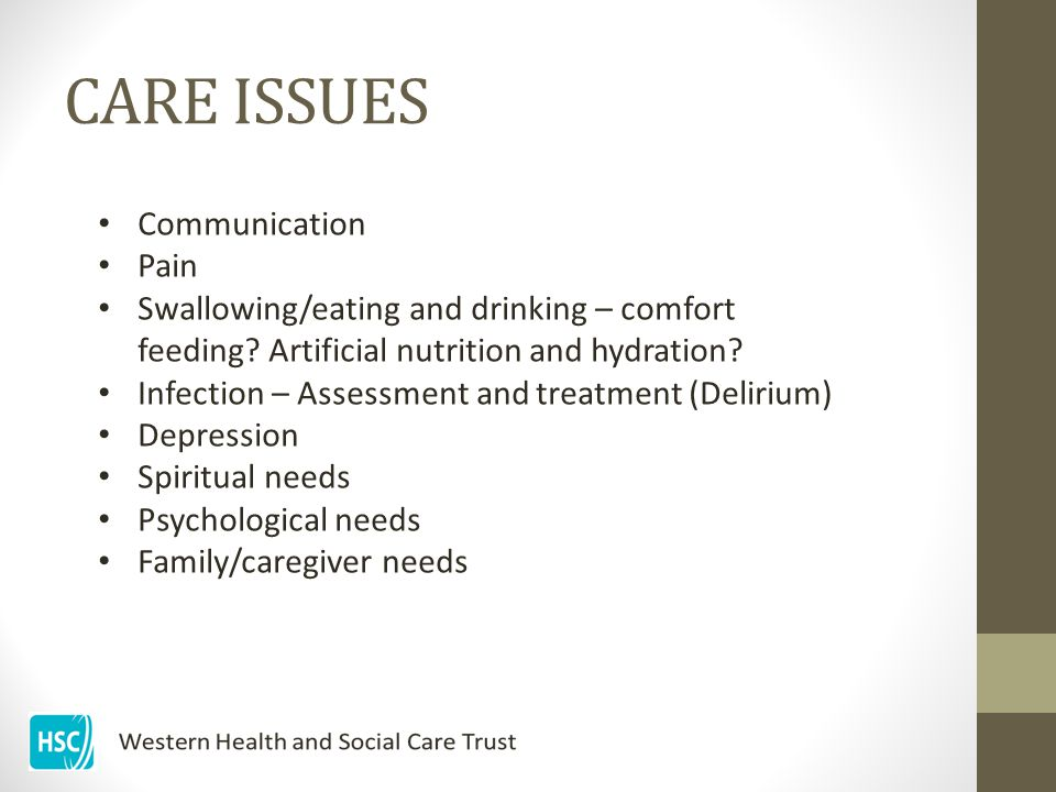 CARE ISSUES Communication Pain