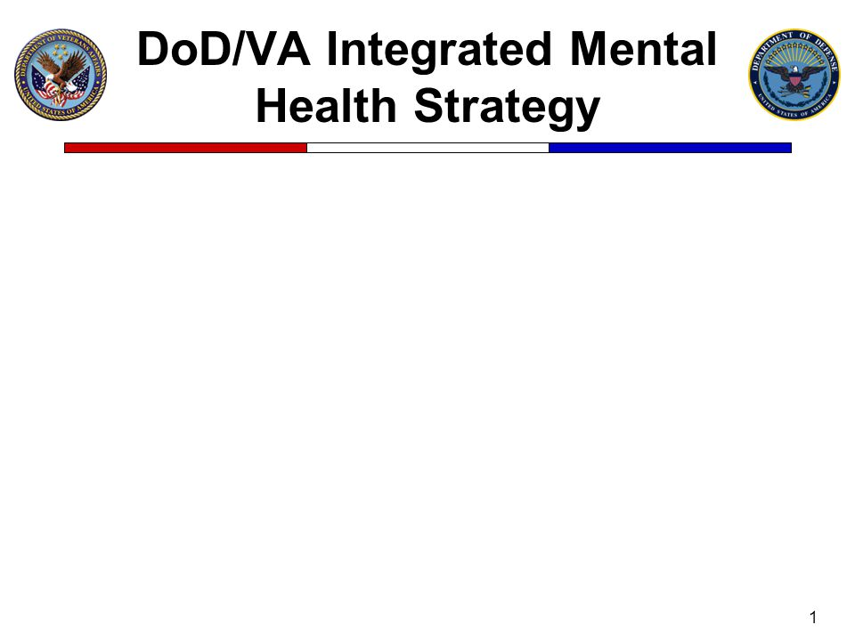 DoD/VA Integrated Mental Health Strategy