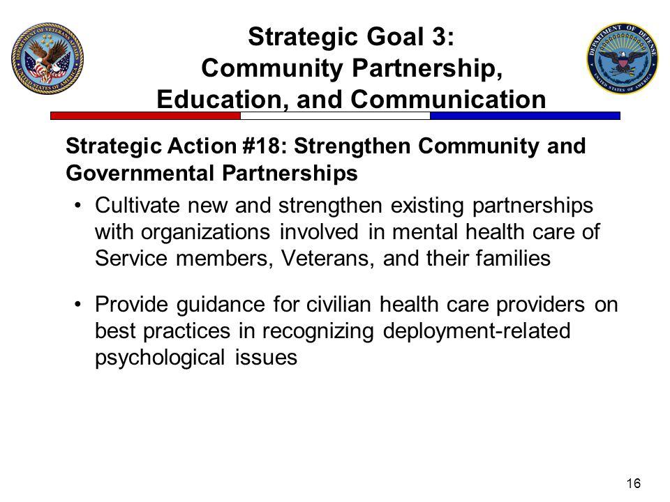Strategic Goal 3: Community Partnership, Education, and Communication