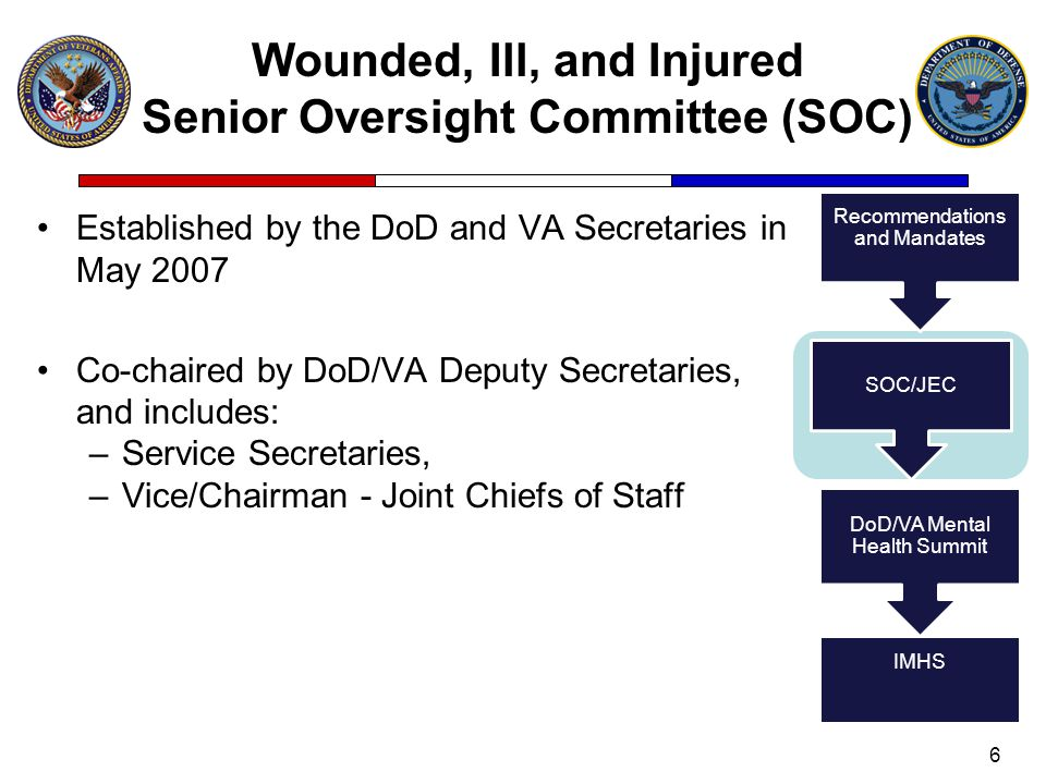 Wounded, Ill, and Injured Senior Oversight Committee (SOC)