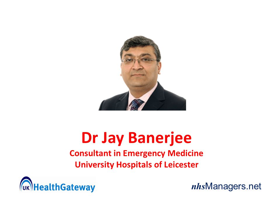 Consultant in Emergency Medicine University Hospitals of Leicester