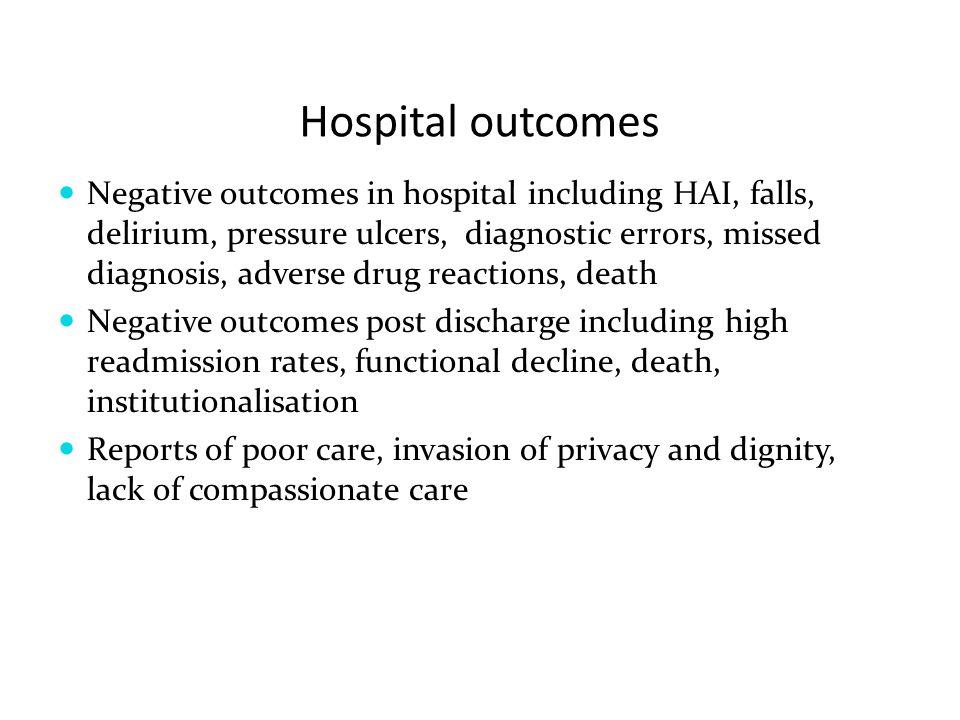 Hospital outcomes