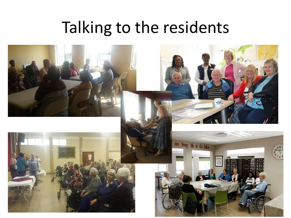 Talking to the residents