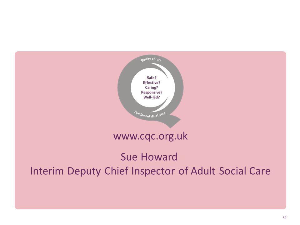 Interim Deputy Chief Inspector of Adult Social Care