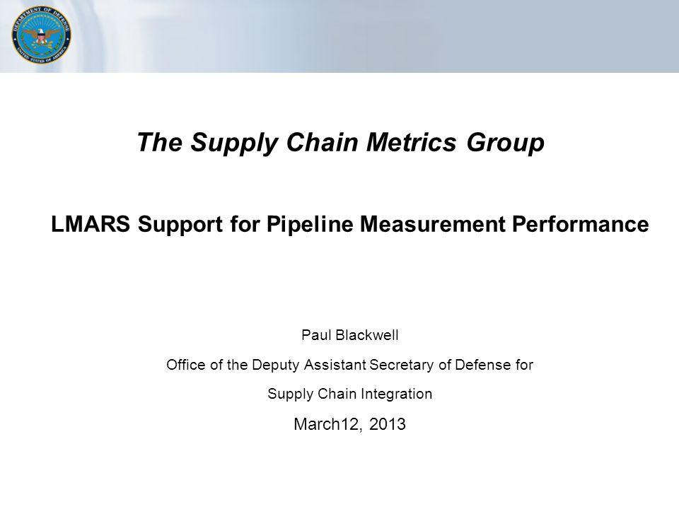 Supply Chain Metrics Strategy
