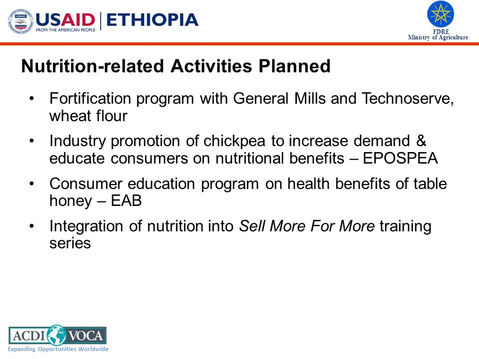 Nutrition-related Activities Planned