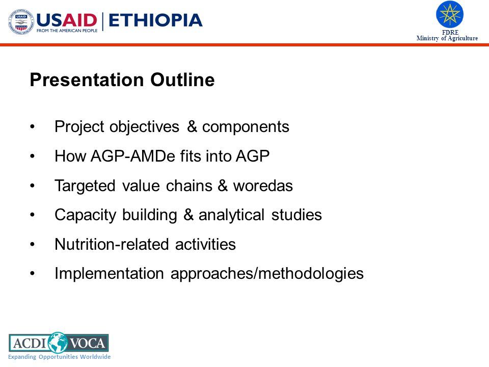 Presentation Outline Project objectives & components