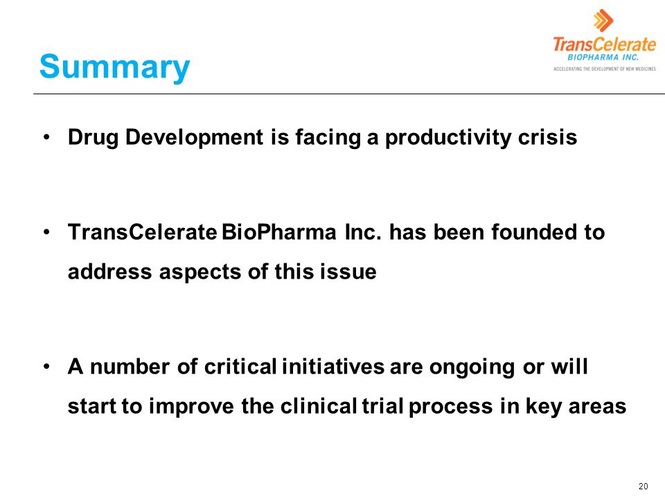 Summary Drug Development is facing a productivity crisis