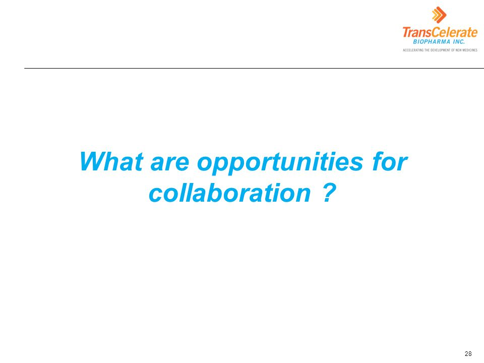 What are opportunities for collaboration