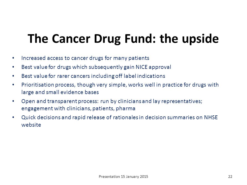 The Cancer Drug Fund: the upside