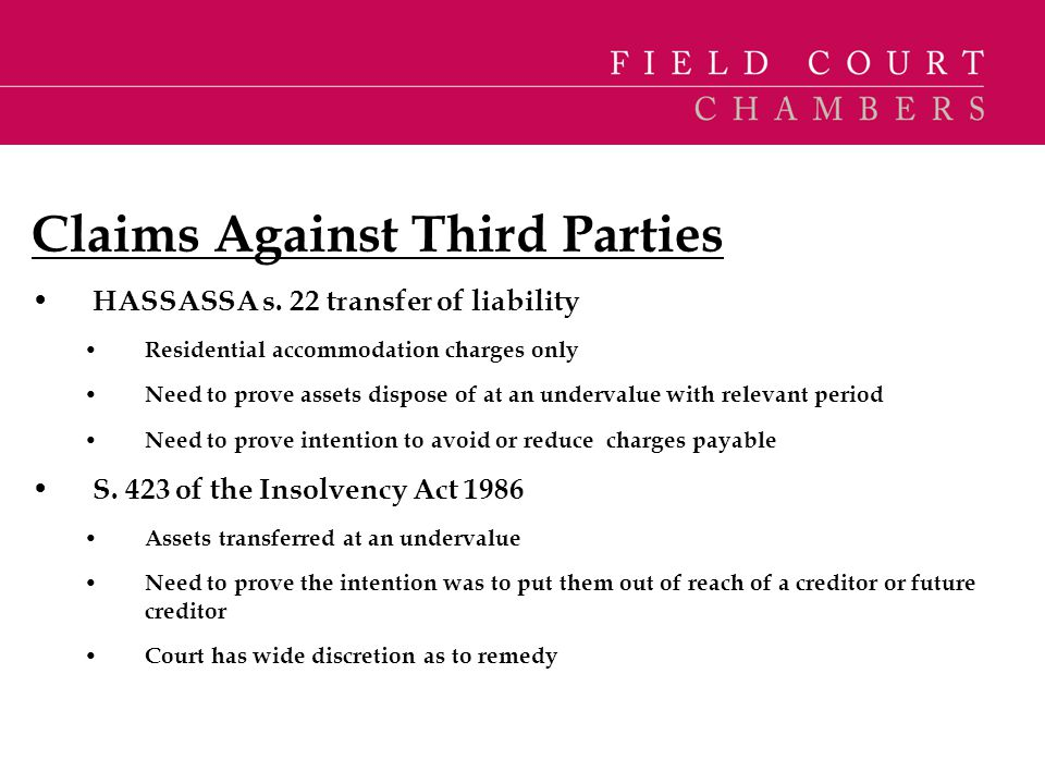 Claims Against Third Parties