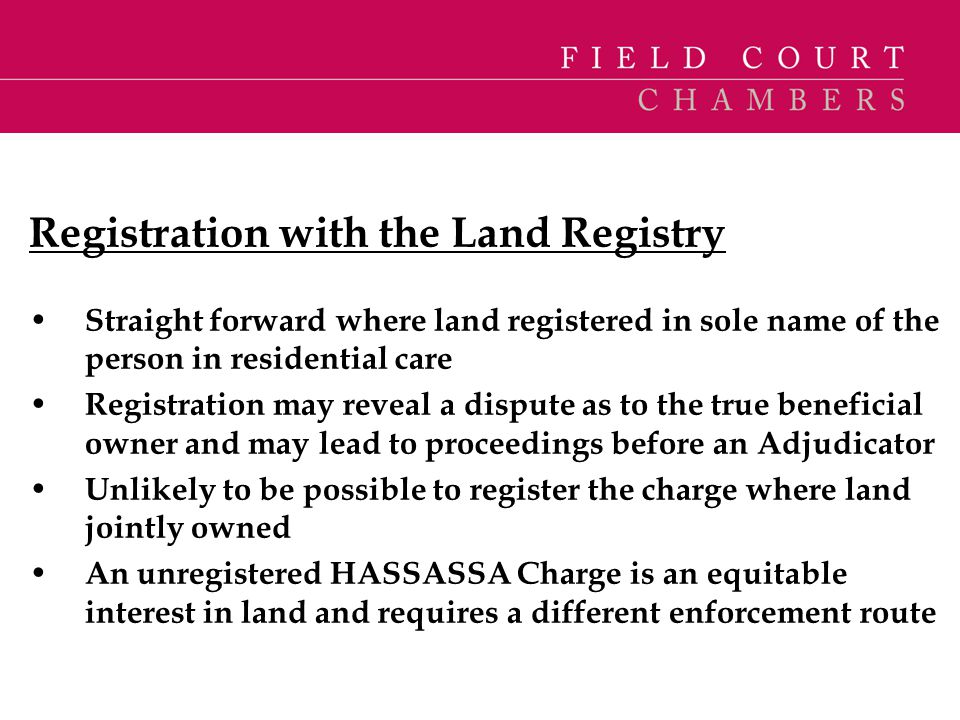 Registration with the Land Registry