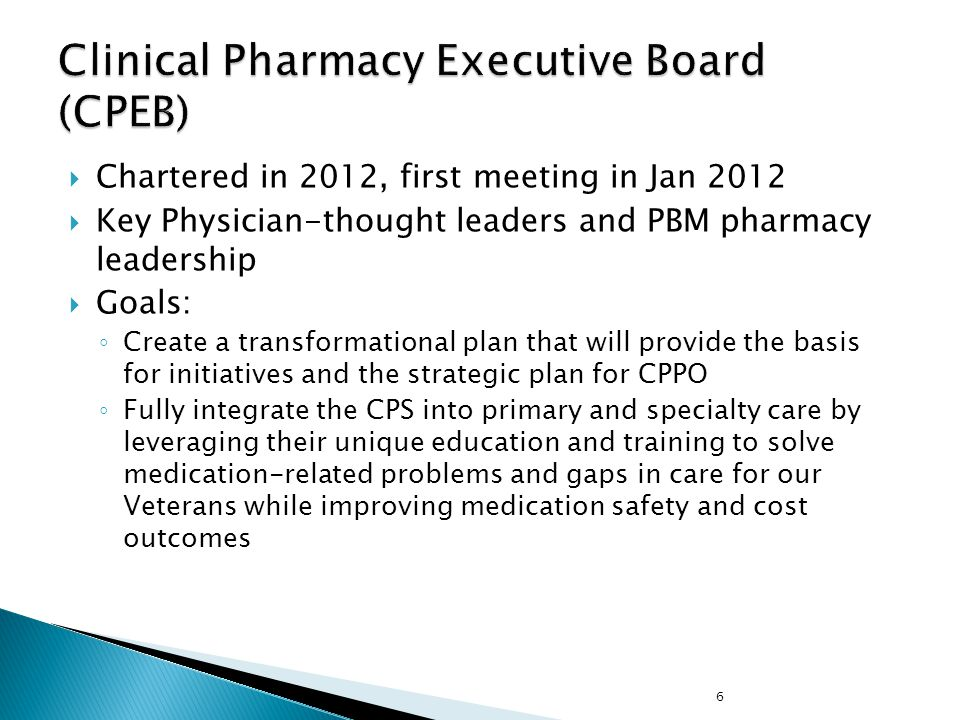 Clinical Pharmacy Executive Board (CPEB)
