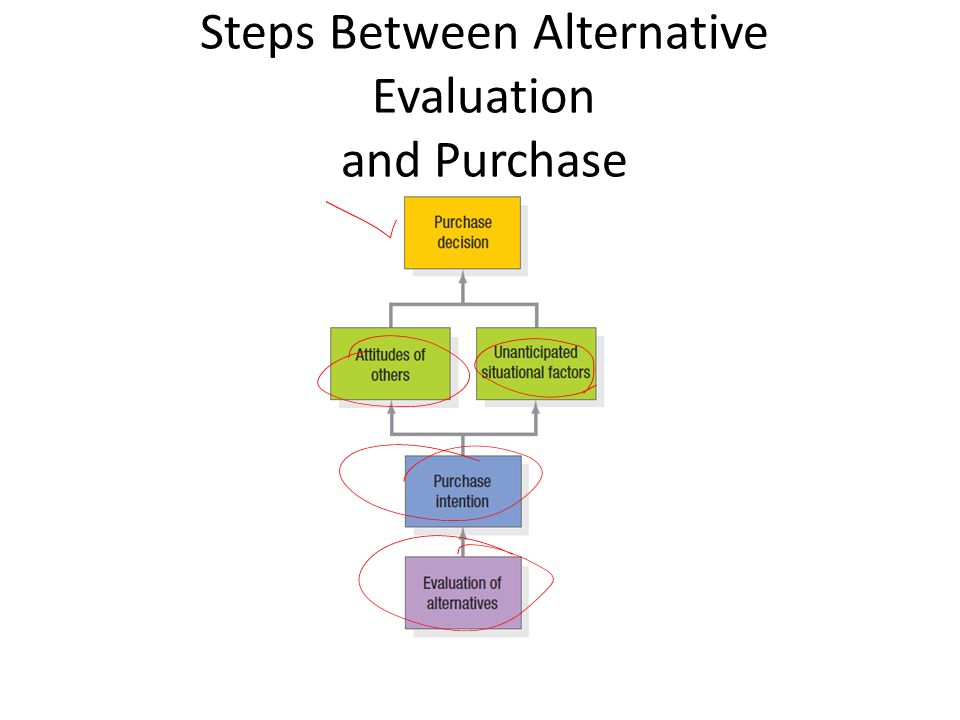 Steps Between Alternative Evaluation and Purchase