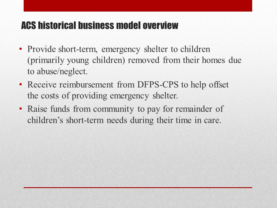 ACS historical business model overview